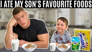 I ate my son's favourite foods for a day