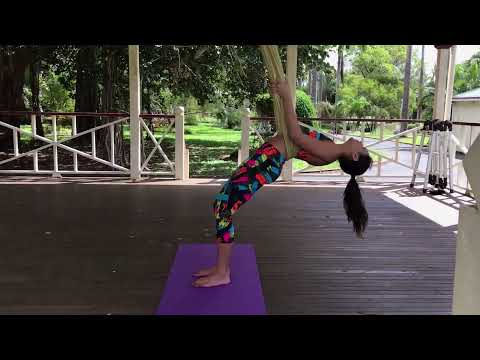 Healthy Model Life Aerial Yoga Class by Rachael Attard