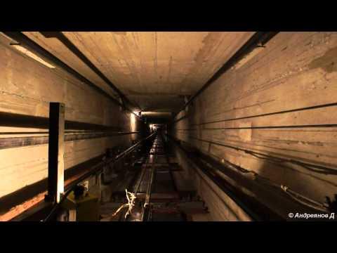 Скоростной (1.6 м/с) лифт, шахта и машинное помещение