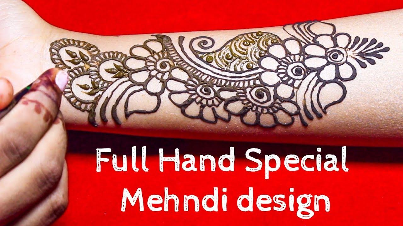 Special full hand mehndi design 2018