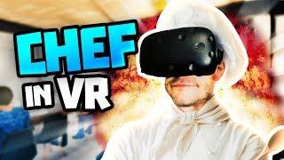 COOKING WORLDS WORST FOOD! in ChefU Gameplay - Cooking VR HTC Vive Gameplay (Chef U)