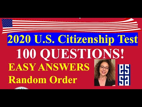 2020 U.S. CITIZENSHIP QUESTIONS