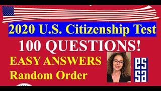 2019-2020 U.S. CITIZENSHIP QUESTIONS