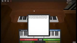 Canon in D ROBLOX Piano sheets.