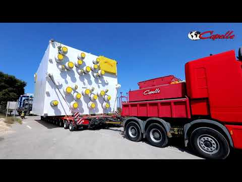 Un colis carrément XXL de 190 tonnes : convoi exceptionnel du Groupe Capelle