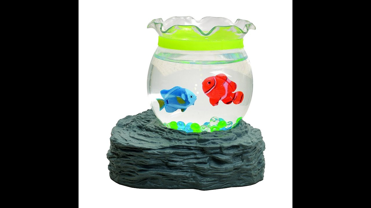 The magic mini toy fish aquarium magnetic battery operated for Toy fish tank