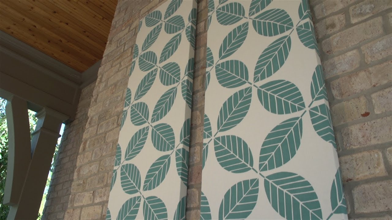 how to make outdoor fabric wall art - Fabric Wall Designs