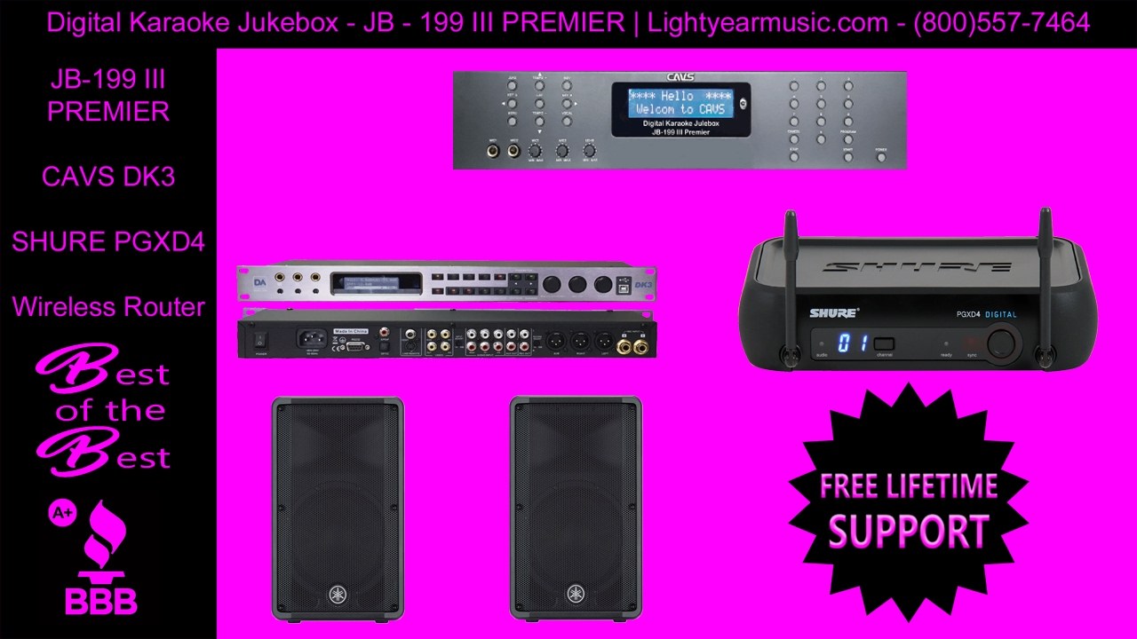 Best Karaoke Player CAVS JB 199 III Premier Digital Jukebox 2TB -  Lightyearmusic