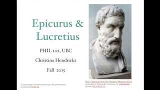 Epicurus and Lucretius, empiricism & physics