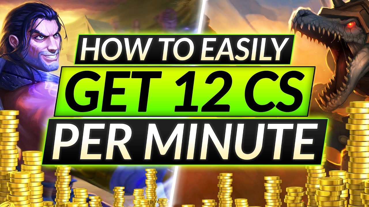 Download 12 CS PER MINUTE - This is How to CRUSH Lane like a PRO - Farming Strategy Guide