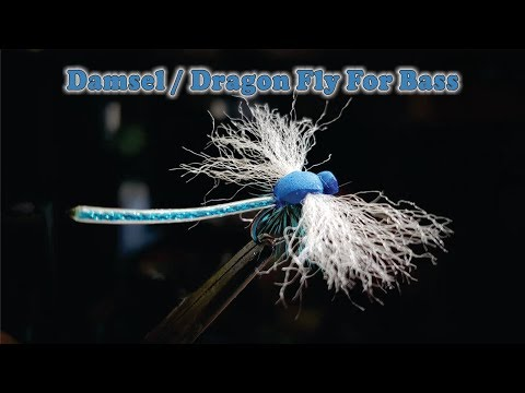 Tied Damsel Dragon Fly For Fly Fishing