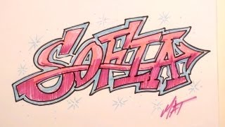 Graffiti Writing Sofia Name Design - #6 in 50 Names Promotion
