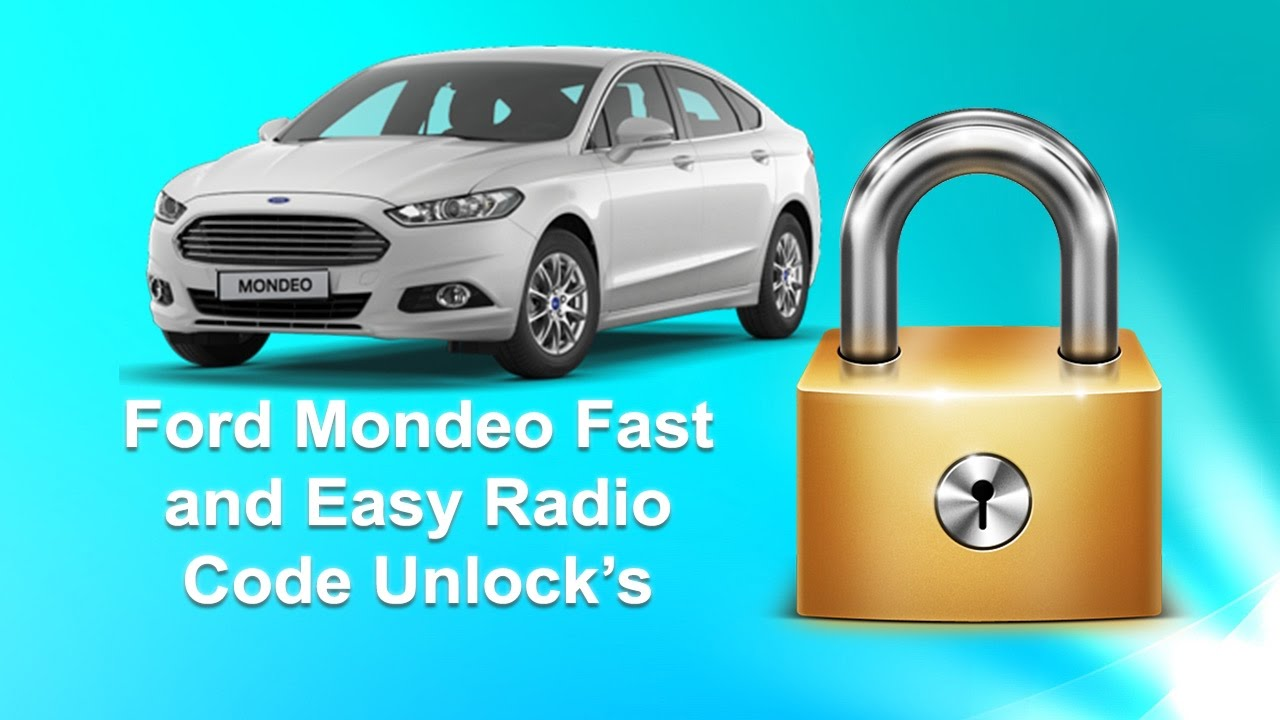 How to find ford mondeo radio code serial 6000cd sony mk4