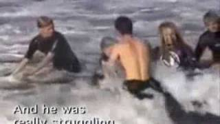 Surfing Shark Attack with Two Great White Sharks (4.5 meters) - www.2besaved.com
