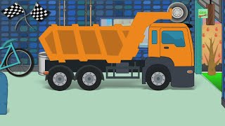 dumpster truck repair   car garage   car service   videos for kids