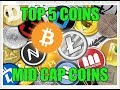 Top 5 Cryptocurrency Coins for  2018 | Mid - Cap Coins | Neo, Decred, ..