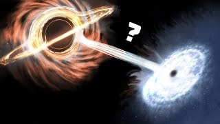 Что, если ЧЕРНАЯ и БЕЛАЯ дыры столкнутся?