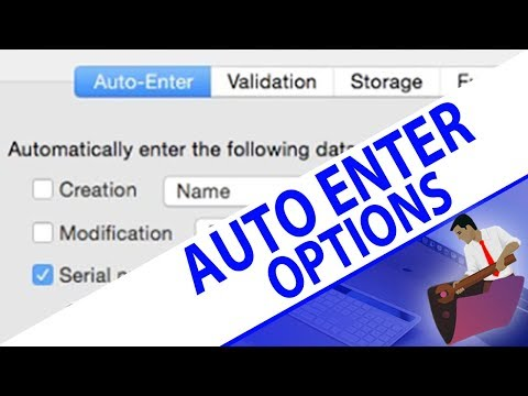 Auto Enter Options for Fields-FileMaker - FileMaker Pro Videos - FileMaker Auto Enter Fields Options