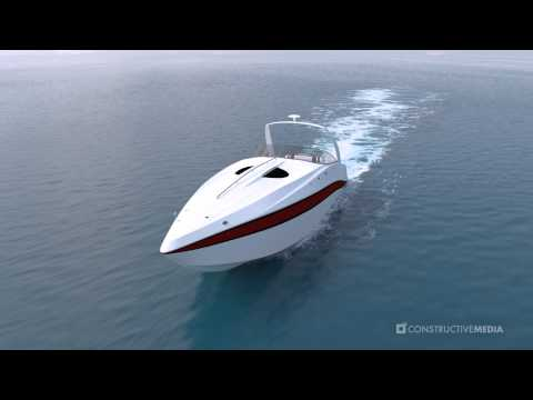 3D Speedboat Animation