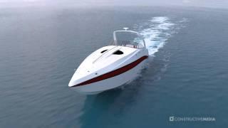 3D Speedboat Animation