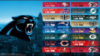 Carolina Panthers 2017 NFL Schedule Predictions/Outcomes