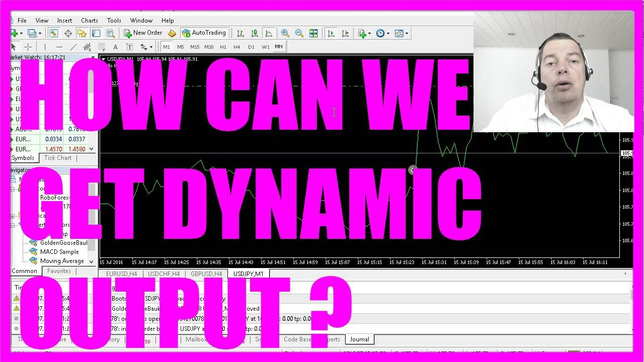 MQL4 Tutorial Bootcamp 1 - 9 How to create dynamic output on your chart