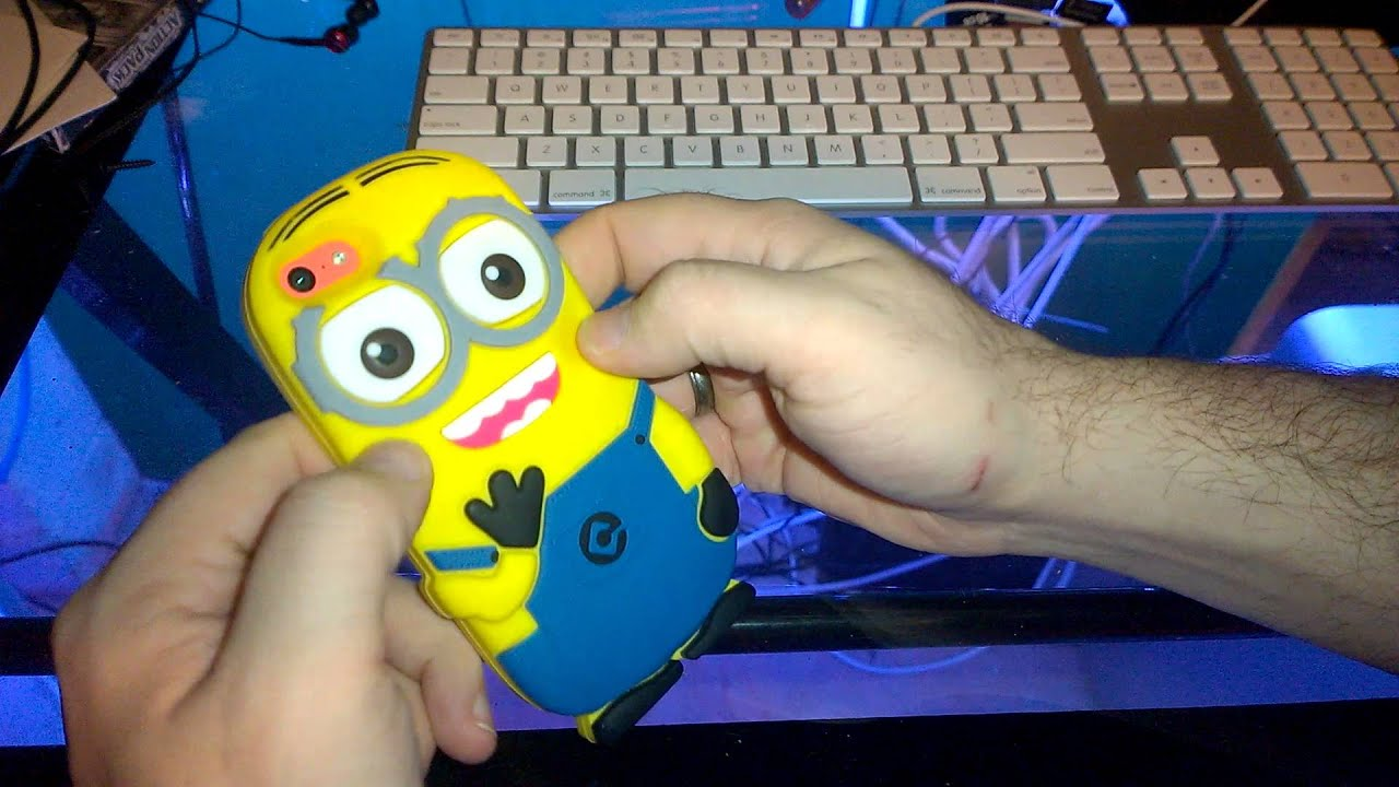 Minion Camera Case : Minions iphone s c s phone case review youtube
