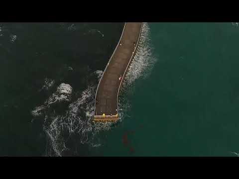 Yuneec Mantis Q 2019 .4k.Pier droning review 🌊...1080p (FHD) boynton beach Florida  flight test #2