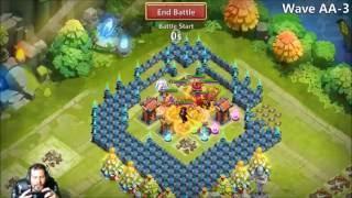 FINALLY Set Up HBM Base Beating AA ONE TIME Castle Clash Crisis