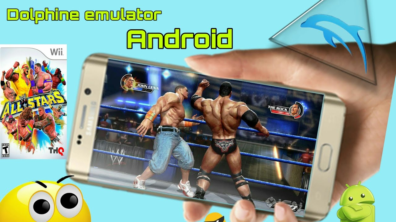 WWE ALL STAR || DOLPHIN EMULATOR ANDROID || OPPO REALME CONSOLE GAMES IN  ANDROID ||HD GAMES 2K19
