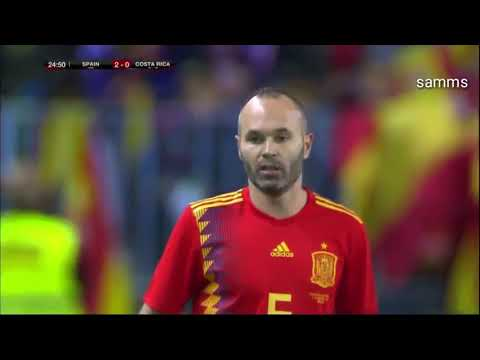 Iniesta VS Costa Rica 11/11/2017 HD