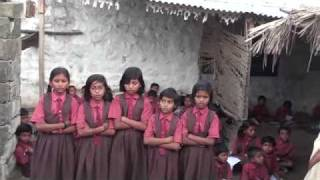 Bhilwar(India) School Prayer(Kannada) Song by Girls