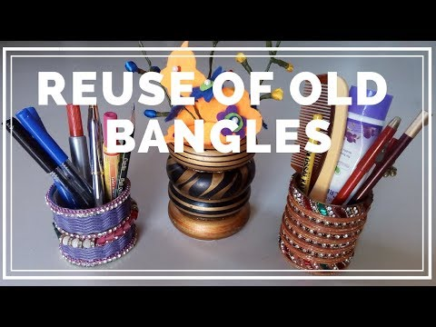Reuse Of Old Bangles | Best Out Of Waste