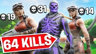 We Broke The Fortnite Trio World Record! 64 Eliminations!