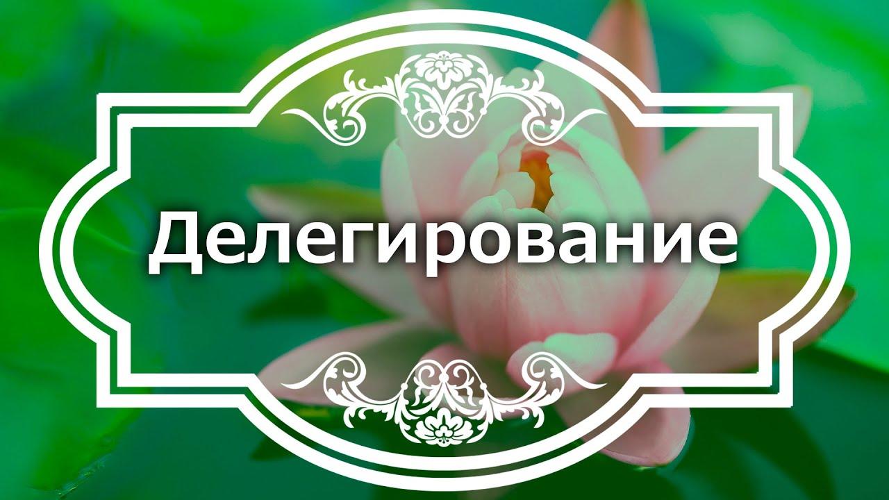 Екатерина Андреева - Делегирование