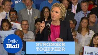 Hillary Clinton N.C. rally: Trump bragged about gaming system - Daily Mail