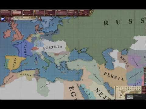 Timelapse of Europe in Victoria II: Heart of Darkness