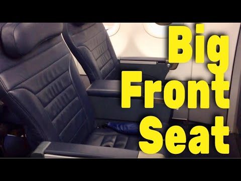 Spirit Airlines Big Front Seat review - YouTube
