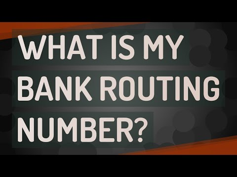 What Is My Bank Routing Number?