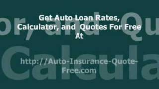 Auto credit loan, auto loan calculator free