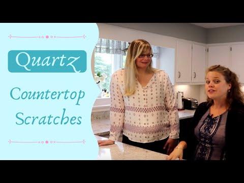 Quartz countertop and scratches