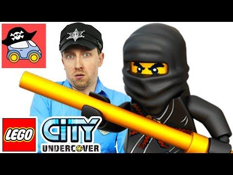 🚓  Lego City Undercover прохождение #11 ПОГОНЯ за Ниндзя. Игра Лего Сити полиция Жестянка