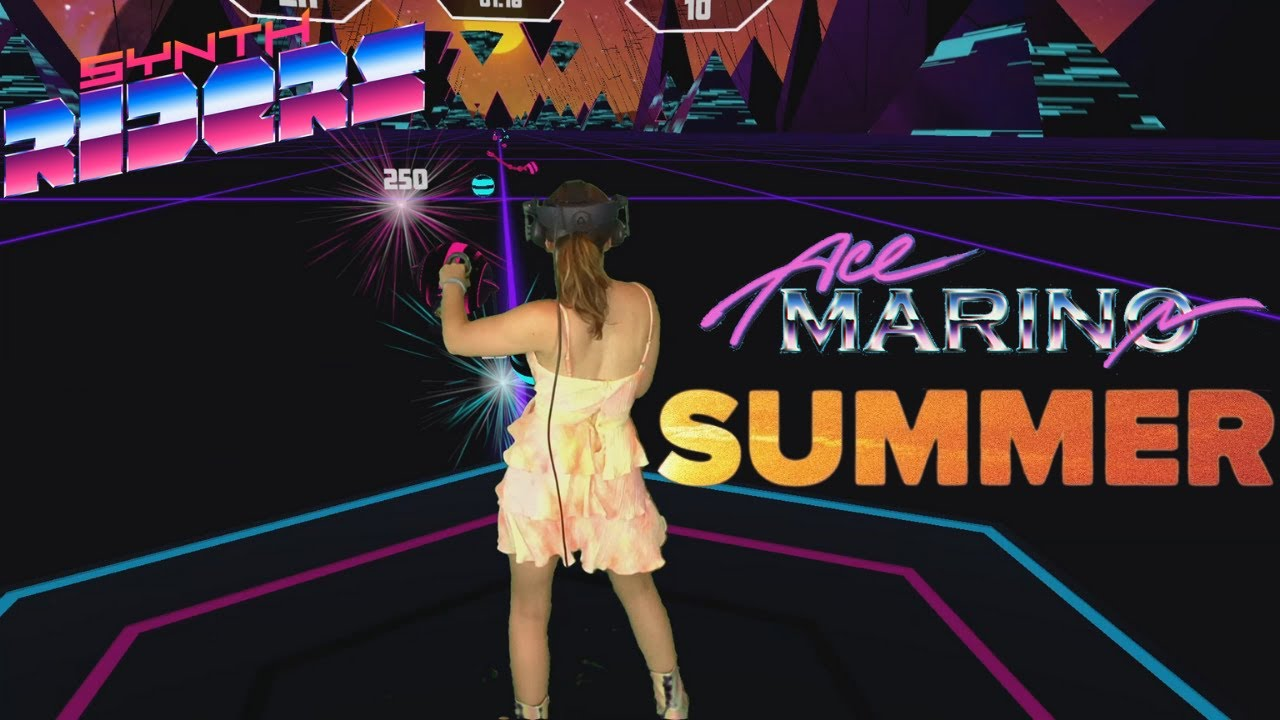 Synth Riders VR | Summer - Ace Marino (Master) First Attempt | Mixed Reality