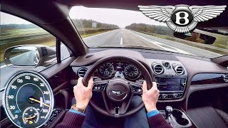 Bentley Bentayga W12 Acceleration POV Autobahn 290 km/h Drive by AutoTopNL