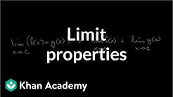 Limit properties | Limits and continuity | AP Calculus AB | Khan Academy