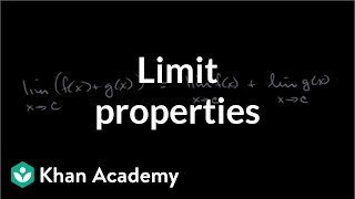Limit properties | Limits and continuity | AP Calculus AB | Khan Academy thumbnail