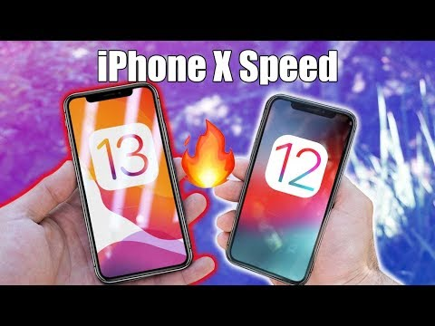 iPhone X iOS 13 VS iOS 12 -SpeedTest Comparison