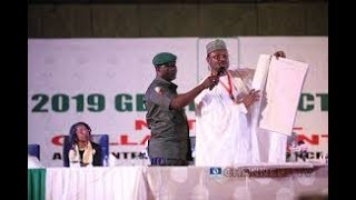 BREAKING NEWS; inec chairman realise result,saraki lose out