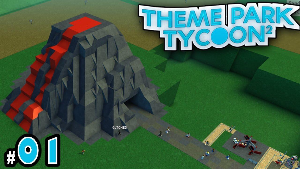 NEW Theme Park Tycoon! Ep. 1: VOLCANO PARK!!! | Roblox - YouTube
