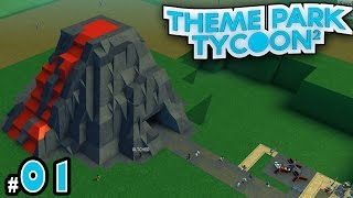 NEW Theme Park Tycoon! Ep. 1: VOLCANO PARK!!! | Roblox